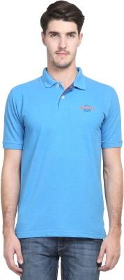 Kingswood Printed Men's Polo Neck Blue T-Shirt