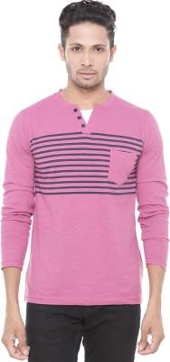 Wexford Striped Men's Henley Pink T-Shirt