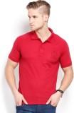 Max Solid Men's Polo Neck Red T-Shirt