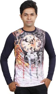 JG FORCEMAN Printed Men's Round Neck Purple T-Shirt