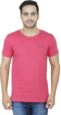 Wineberry Printed Men's Round Neck Pink T-Shirt