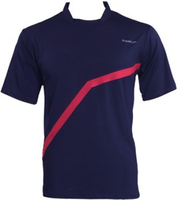 Freestyle Striped, Solid Men's Round Neck Blue T-Shirt