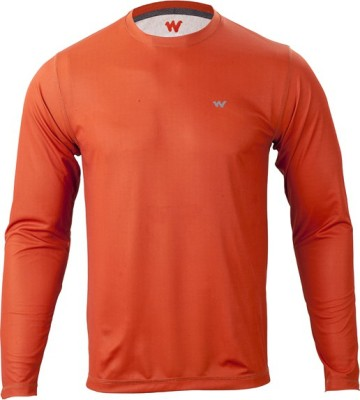 Wildcraft Solid Men's Round Neck Orange T-Shirt