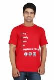Crazeis Printed Men's Round Neck Red T-S...