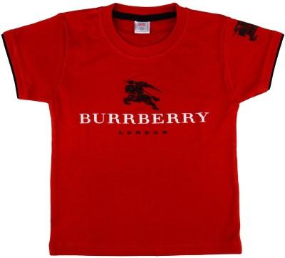 NavyaRiti Printed Boy's Round Neck Red T-Shirt