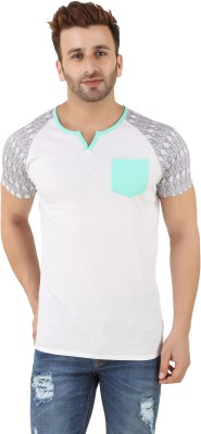 Spunk Printed Men's Round Neck White T-Shirt