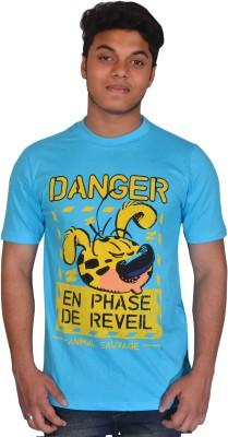 styzon Graphic Print Men,s, Boy's Round Neck Yellow T-Shirt