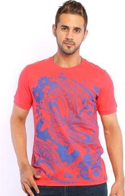 Webmachinez Graphic Print Men's Round Neck Red T-Shirt