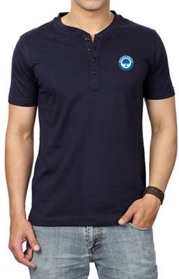 Banyan Roots Solid Men's Henley T-Shirt