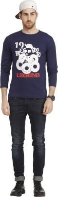 Cali Republic Printed Men's Round Neck Blue, Grey, Red T-Shirt