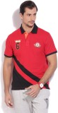 Global Nomad Solid Men's Polo Neck Red T...