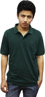 Kikki Solid Men's Polo Green T-Shirt