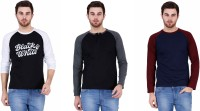 U.S.ELK Solid Men's Round Neck Multicolor T-Shirt(Pack of 3)