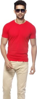 Gritstones Solid Men's V-neck T-Shirt