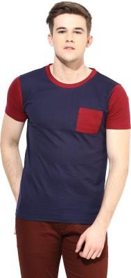 Benoit Solid Men's Round Neck Blue T-Shirt