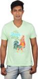Dude Tamizha Printed Men's V-neck Green ...