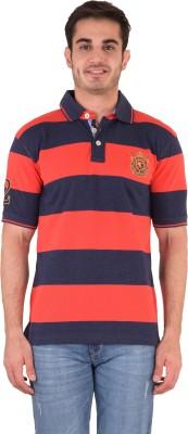 Kingswood Embroidered Men's Polo Orange T-Shirt