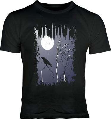 Oneliner Printed Men's Round Neck Black T-Shirt