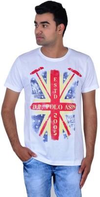 IPG Printed Men's Round Neck White T-Shirt