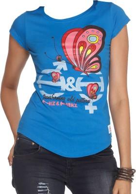 Hiz & Herz Printed Women's Round Neck T-Shirt