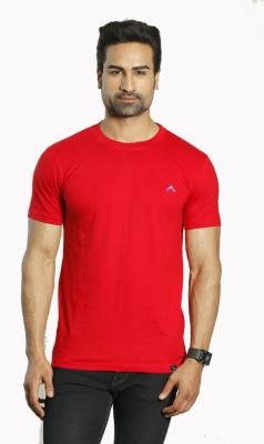 ALBITEN Solid Men's Round Neck Red T-Shirt