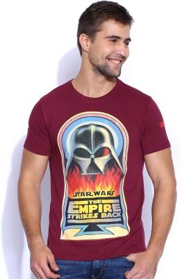 Kook N Keech Star Wars Printed Men's Round Neck Maroon T-Shirt