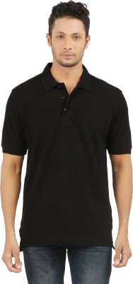 SUNNY Solid Men's Polo Black T-Shirt