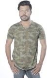 Poonam Printed Men's V-neck Multicolor T...