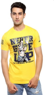deccan store Printed Men,s Round Neck Yellow T-Shirt