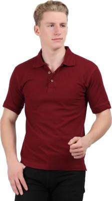 Stylefox Solid Men's Polo Maroon T-Shirt
