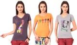 TSG Breeze Printed Women's V-neck Multic...
