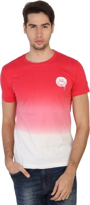 Being Human Solid Men's Round Neck Red, White T-Shirt