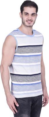 House of Fett Striped Men's Round Neck Multicolor T-Shirt