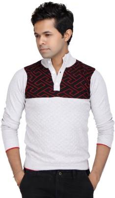 JG FORCEMAN Printed Men's Polo Neck White T-Shirt