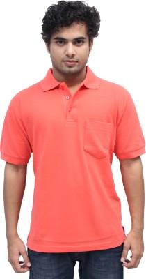 Romano Solid Men's Polo Orange T-Shirt