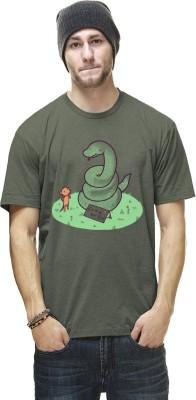 THREADCURRY Graphic Print Men's Round Neck Green T-Shirt