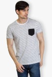 Taanz Self Design Men's Round Neck White...