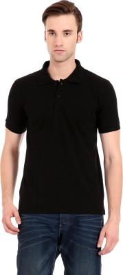 Zeug Solid Men's Polo Neck Black T-Shirt