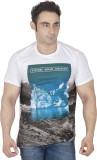 ISHWA Graphic Print Men's Round Neck Whi...