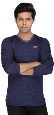 JG FORCEMAN Solid Men's Halter Neck Purple T-Shirt