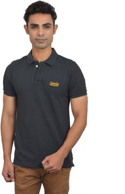 London Eye Solid Men,s Polo Neck Grey, Yellow T-Shirt