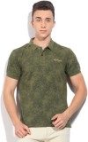 Ed Hardy Printed Men's Polo Neck Green T...