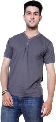 Ashdan Solid Men's Henley Grey T-Shirt