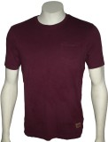 Cool Club Solid Men's Round Neck Maroon ...