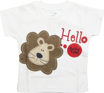 Cheeky Duck Graphic Print Baby Boy's Round Neck T-Shirt