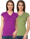 Ebry Solid Women's V-neck T-Shirt
