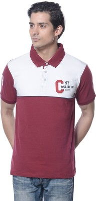 Carve Solid Men's Polo Neck Red T-Shirt