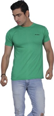 B2 Solid Men's Round Neck Green T-Shirt