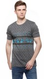 Fasnoya Printed Men's Round Neck Grey T-...