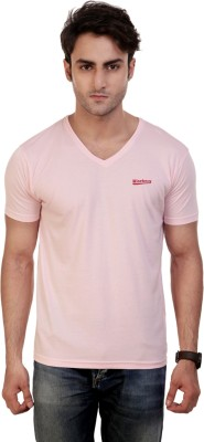 Wineberry Solid Men's V-neck T-Shirt
